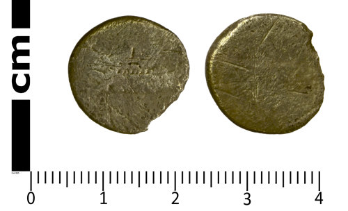 SWYOR-EB377B: Roman Republican Coin; Mark Anthony galley denarius