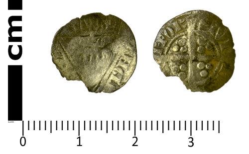 SWYOR-EB93A9: Medieval Coin; Irish half penny of Edward I