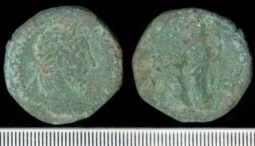 BM-7B8B45: Roman Coin:  Sestertius of Marcus Aurelius