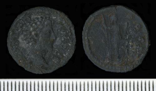 CAM-EA8F05: Roman Coin:  Denarius of Marcus Aurelius