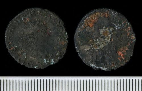 FAPJW-63EE72: Roman Coin:  Radiate of Valerian II