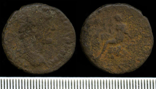NCL-875C34: Roman Coin:  As of Antininus Pius