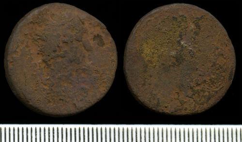 NCL-8C6A40: Roman Coin:  Dupondius or as of uncertain emperor