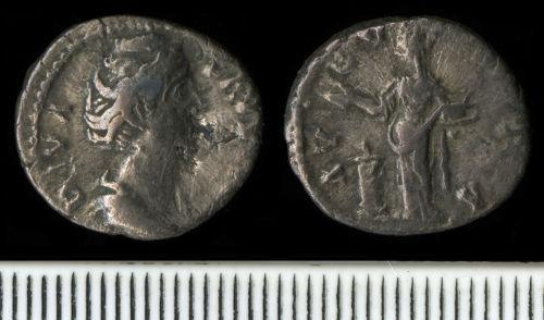 NCL-5A4FB5: Roman Coin:  Denarius of Faustina I