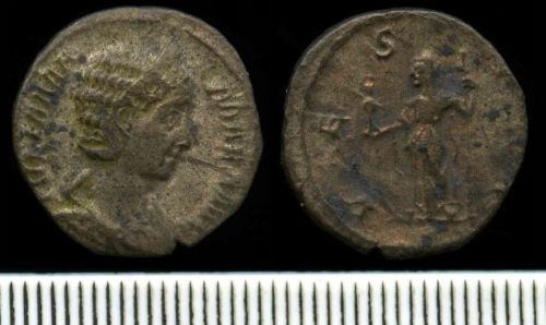 NCL-9A3896: Roman Coin:  Denarius of Julia Mamaea
