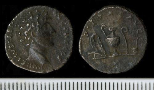 FAPJW-6086C4: Roman Coin:  Denarius of Marcus Aurelius