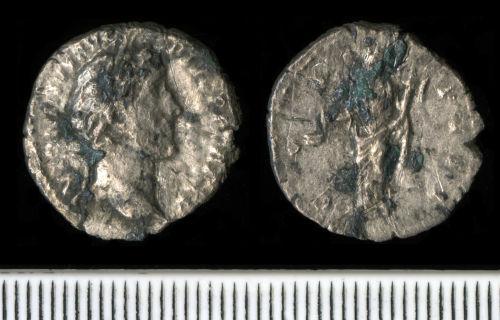 NCL-37D545: Roman Coin:  Denarius of Antoninus Pius