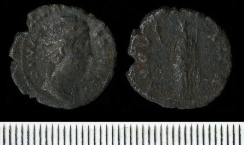 NCL-AB9208: Roman Coin:  Denarius of Faustina I
