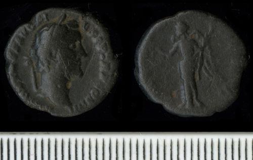 FAPJW-2A6891: Roman Coin:  Denarius of Antoninus Pius