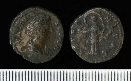 NCL-0158A5: Roman Coin:  Denarius of Faustina I