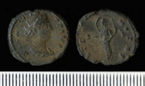 NCL-BB4664: Roman Coin:  Denarius of Faustina I
