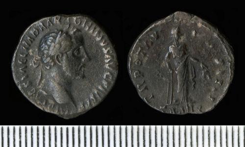 NCL-EF20A6: Roman Coin:  Denarius of Antoninus Pius