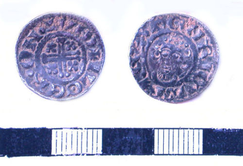 LVPL-EA0916: LVPL-EA0916 Medieval hammered silver penny of John I.