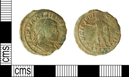 WILT-F10705: Roman Coin: Nummus of Maximinus II