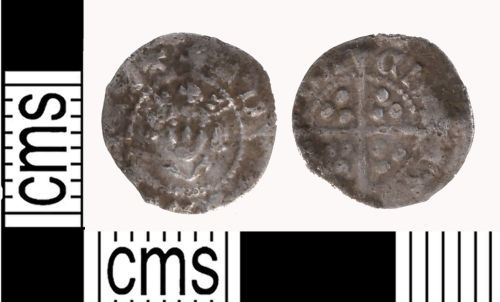 LON-9E3B34: silver farthing of Edward II dating to 1307 to 1327 AD