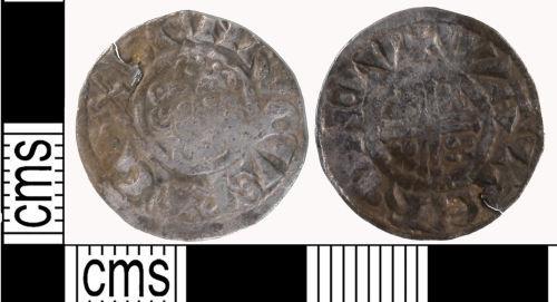 LON-9E6707: Short cross penny of John AD 1210-1216