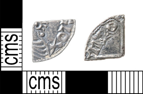 HAMP-83A84D: Early medieval coin : cut farthing of Aethelred II