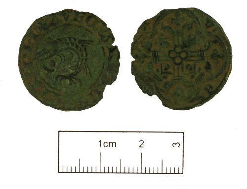 KENT-E20164: Medieval copper alloy Jetton