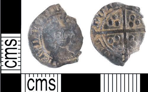 KENT-5CD3E2: Medeival long cross coin