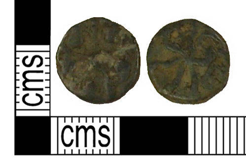 KENT-78E4C6: A Post Medieval lead token.