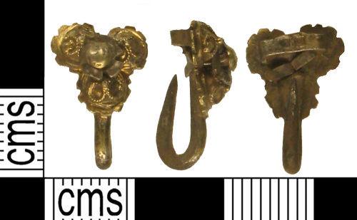 KENT-A62423: KENT-A62423: Post Medieval silver glt dress hook