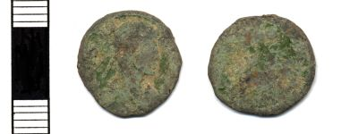 A resized image of 4th Century Roman Nummus<br>(Hamp 9B29A7)