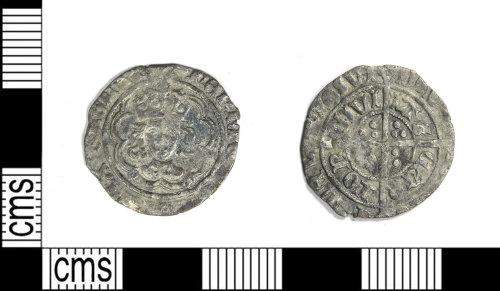 LEIC-023538: Post medieval silver halfgroat of Henry VII