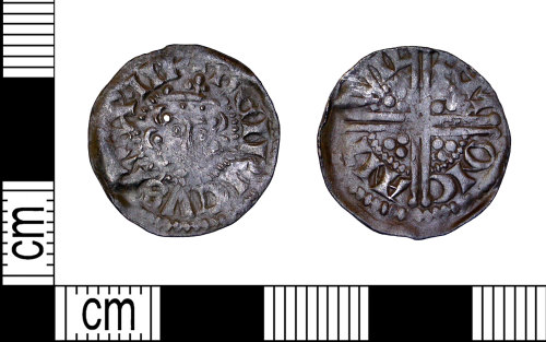 LEIC-054811: Medieval silver voided long cross penny of Henry III