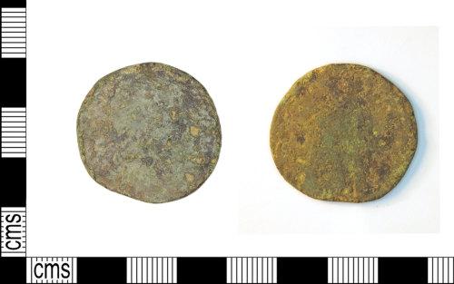 LEIC-0C3264: Roman coin, copper alloy Sestertius, possibly of Marcus Aurelius
