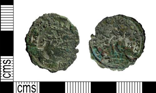 LEIC-167B8B: Roman copper alloy Nummus of Constantine I