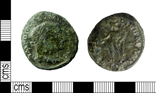 LEIC-185FA6: Roman copper alloy As of Diocletian
