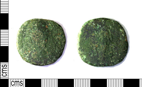 LEIC-32DDA6: Roman copper alloy sestertius probably of Faustina