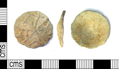 LEIC-36F1A1: Medieval to post medieval lead alloy token
