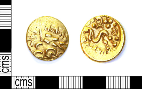 LEIC-5BB127: Iron Age gold stater, North Eastern type