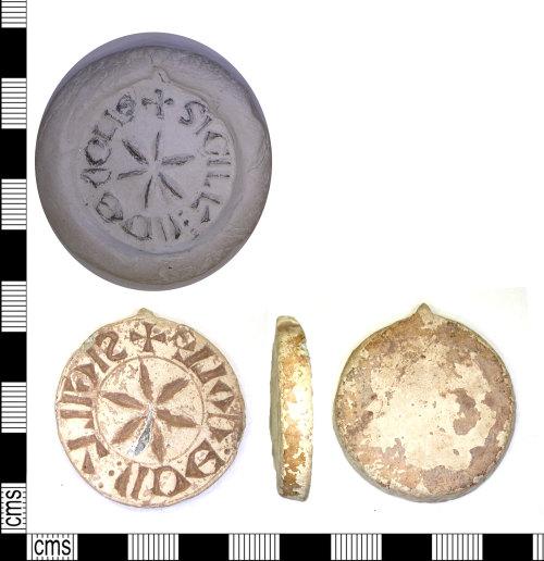 LEIC-5C0436: Medieval lead alloy seal matrix