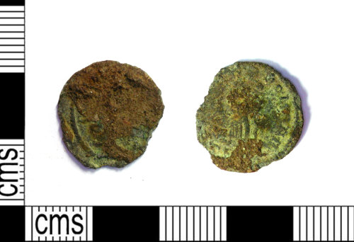 LEIC-73A0A5: Roman copper alloy nummus possibly of Helena