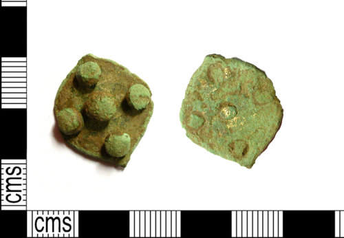 LEIC-769231: Medieval copper alloy mount