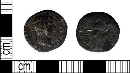 LEIC-789AA5: Roman silver denarius of Hadrian