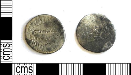 LEIC-7A8FB5: Roman Republican silver denarius of Marc Antony