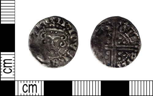 LEIC-7B437C: Medieval silver voided long cross penny