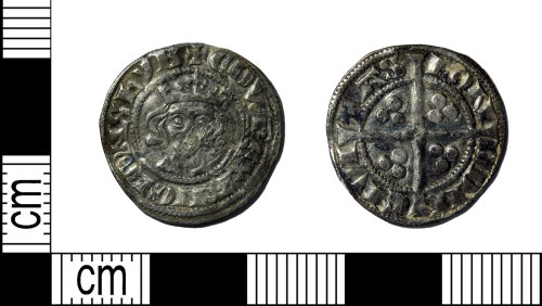 LEIC-7B61D8: Medieval silver penny of Edward I