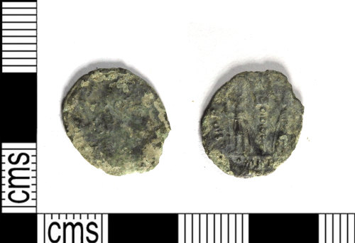 LEIC-8D0FED: Roman copper alloy nummus of the House of Constantine