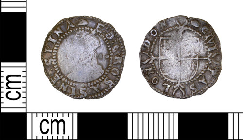 LEIC-9713D3: Post medieval silver halfgroat of Elizabeth I
