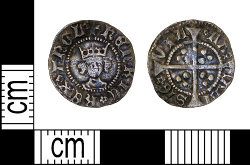 LEIC-974AC2: Medieval silver halfpenny of Henry VI