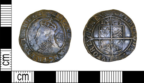 LEIC-981346: Post medieval silver sixpence of Elizabeth I