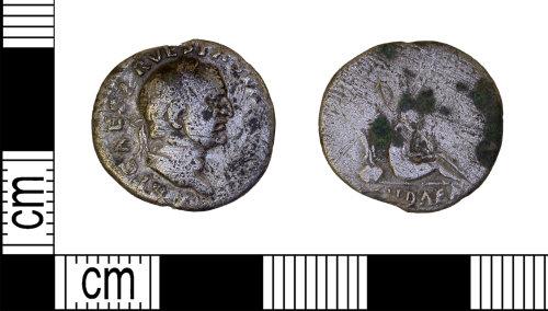 LEIC-98BC5F: Roman silver denarius of Vespasian