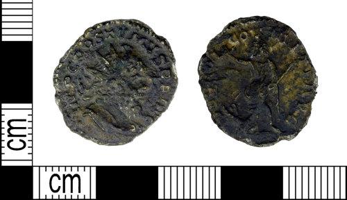 LEIC-99D978: Roman copper alloy nummus of Postumus
