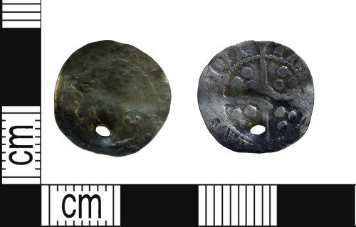 LEIC-A206DC: Pierced Medieval silver farthing of Edward IV?