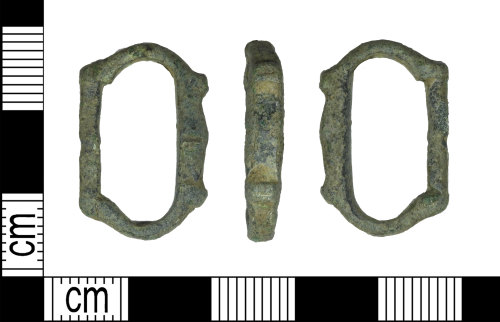 LEIC-BD49AD: Medieval copper alloy buckle
