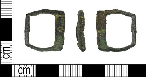 LEIC-BD5B6A: Medieval copper alloy buckle